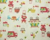 Buffet car-Japanese cotton fabric -Half Yard