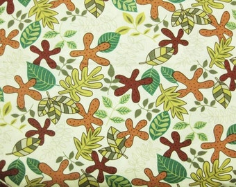 Colorful blade in Beige -Japanese cotton fabric -Half Yard