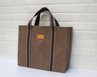 kraft Paper fabric in Brown  - 72CM X 45CM
