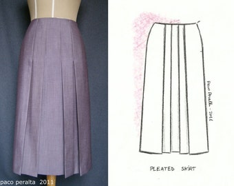 PLEATED SKIRT pattern.-