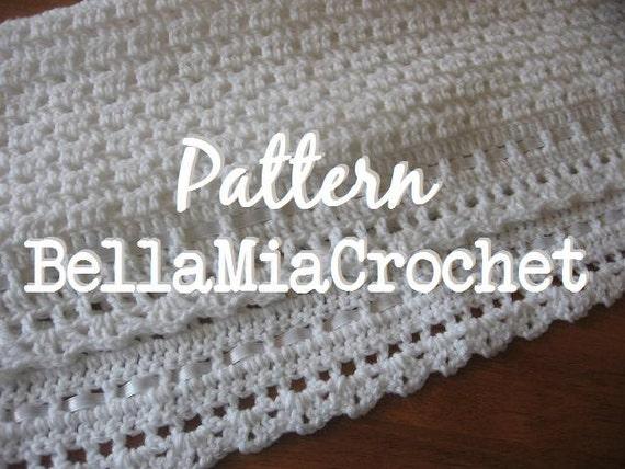 Crochet Baby Blanket Heirloom Christening by bellamiacrochet