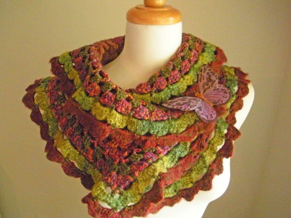 30% OFF Crocheted Scarflette No 35