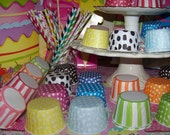 """Cups 6 Cups  Ice Cream Cups Candy Cups Nut Cups Portion Cups  """"You Pick"""" Your Colors Custom Orders Welcome Any Amounts"""