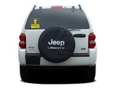 Child in Jeep vinyl decal