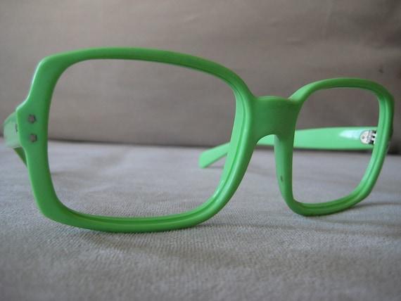 RUN DMC style eyeglasses sunglasses thick Mint green frames