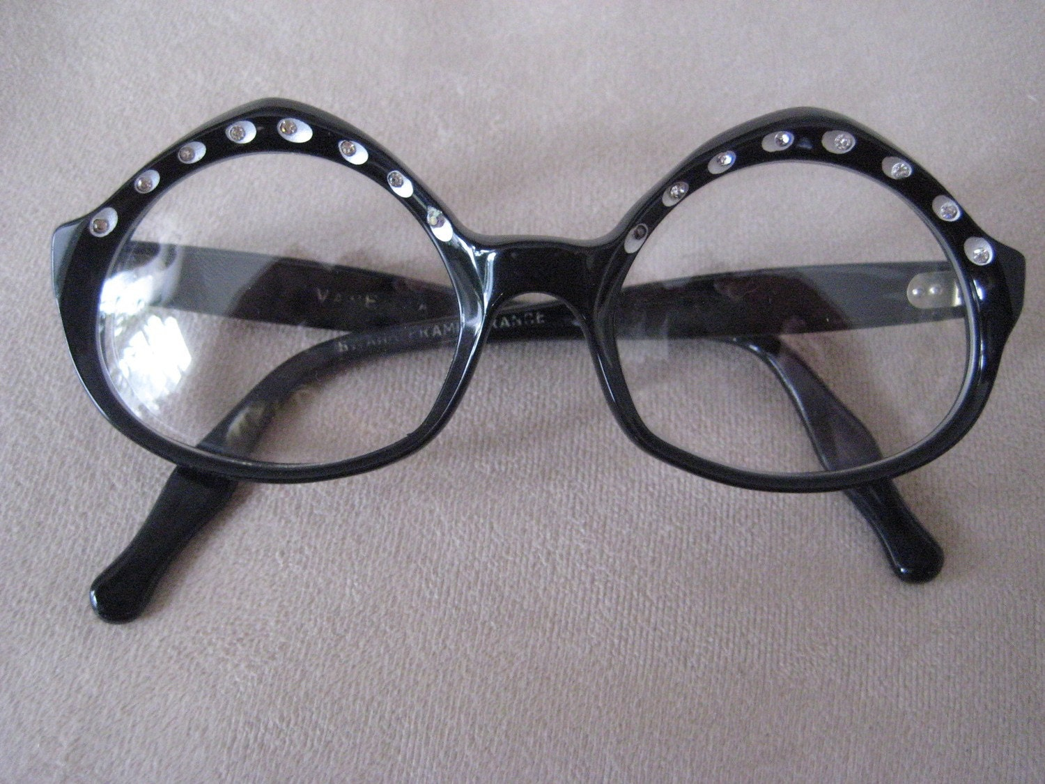 swank unique eyeglasses or sunglasses frames black by atrickey
