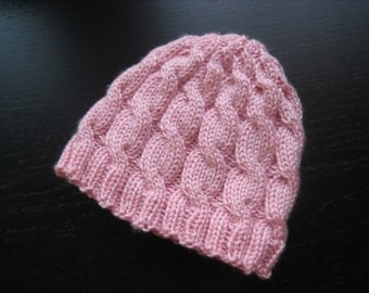 Pink Snow Angel Hat