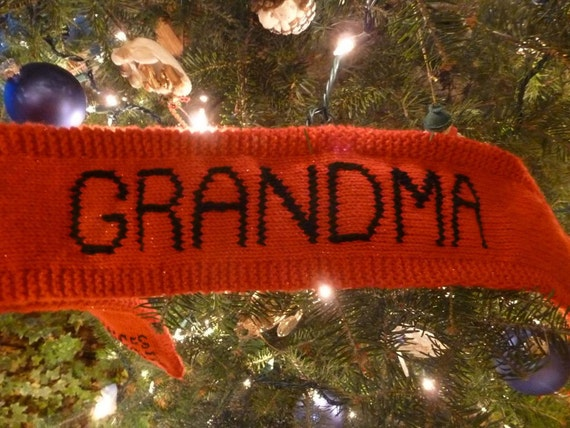 "Custom ""Grandma"" Scarf (Or ""Grandpa,"" ""Mother,"" or ""Father"")"