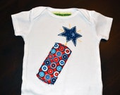 Girls and Boys 4th of July Firecracker Bodysuit or TShirt