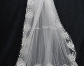 Embroidered Edge Cathedral Veil