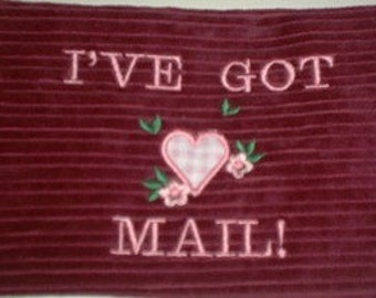 Toddler Playhouse  Ive Got Mail  Pouch Set of 5 Appliqued Love Letters Straight From the Heart  customized with your phrases