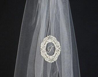 Lindsays framed monogram veil