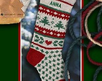 Holiday JOY/Red Christmas Stockings Personalized Wool Knitted