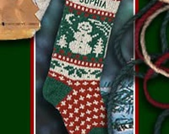 Classic Snowman Personalized Stocking for Christmas