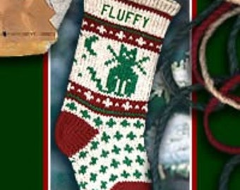 Pet Cat Christmas Stockings Personalized for Family Kitty