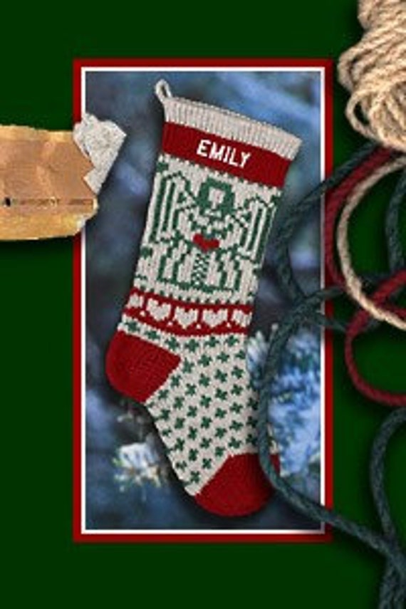 Angel Christmas Stocking Personalized with Embroidered Names