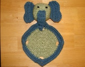 Elephant Lovey - Blue and Green