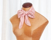 sale - Vintage Pink Scarf - Petal Pink Floral