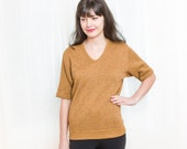 Vintage 1960s / 70s Sweatshirt - Spiced Curry Athletic Shirt - M