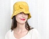 1960s Honey Gold Yellow hat - Vintage 60s Hat