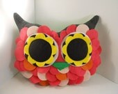handmade stuffed toy owl pillow owl plush b e l l a m i n a' s owl pillow Christmas gift