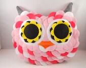 handmade stuffed toy owl pillow owl plush b e l l a m i n a' s owl pillow