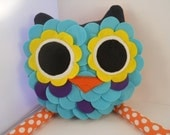 handmade stuffed toy plush pillow owl -  Featured in Novemner Issue of Pregnancy and Newborn Magazine Christmas gift