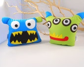 2 monsters bookends - bookend, doorstops by bellamina Christmas kids gift