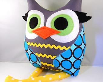 Handmade Owl Pillow Plush Stuffed Toy