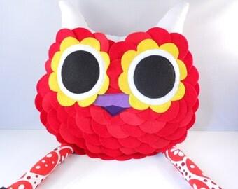 Handmade large Owl Pillow Plush Stuffed Toy Christmas gift