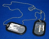 Military Style Dog Tags - Personalized - Stainless Steel
