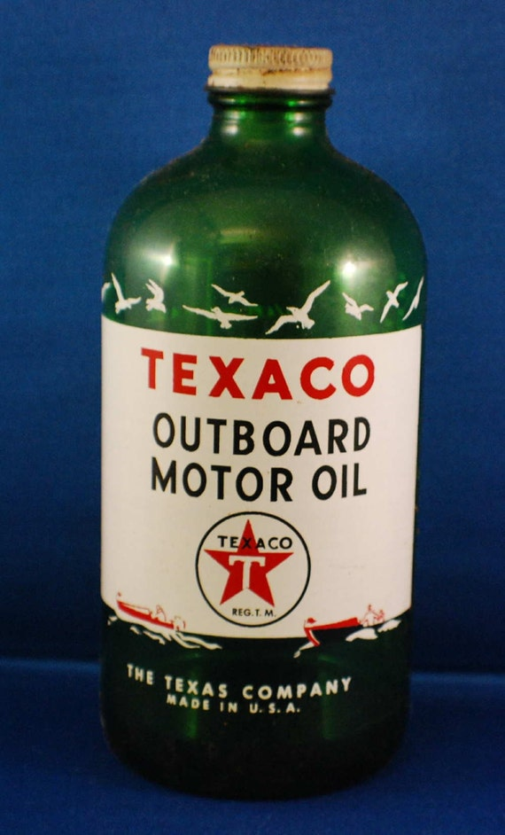 Texaco Outboard Motor Oil Bottle From The 1950 S Item