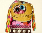 Folk Art Cloth Monster Doll Bohemian Bessie Vampire