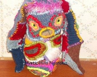 Rabbit Fiber Art Doll