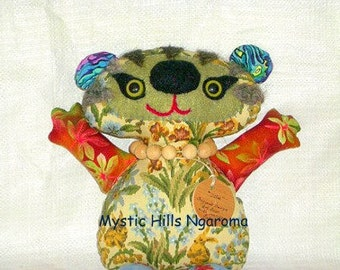 Fabric Art Bear Ollie The Whimsy  Artist Bear