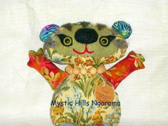 Fabric Art Bear Ollie The Whimsy  Artist Bear