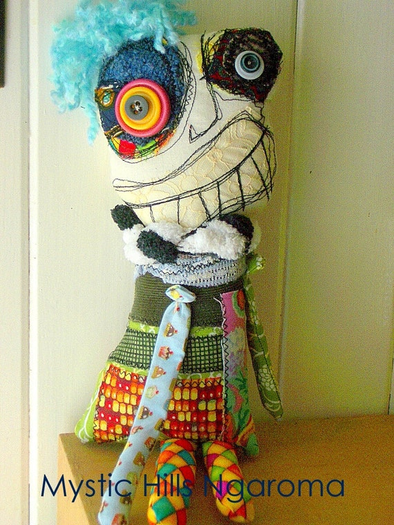 Hand made Rag Doll - Puck