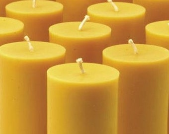Handmade Beeswax Pillar Candle,  2 x 3.5 inches