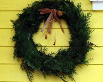 Hand-made Pacific Northwest Fresh Holiday Wreath - 12-13 inches