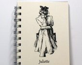 Journal Notebook Diary - Victorian Girl Reading - Personalized With Your Name - Small Notebook 5.5 x 4.25 Inches