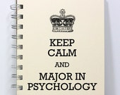 Psychology Journal Notebook Diary Sketch Book - Keep Calm and Major in Psychology - Small Notebook 5.5 x 4.25 Inches - Ivory