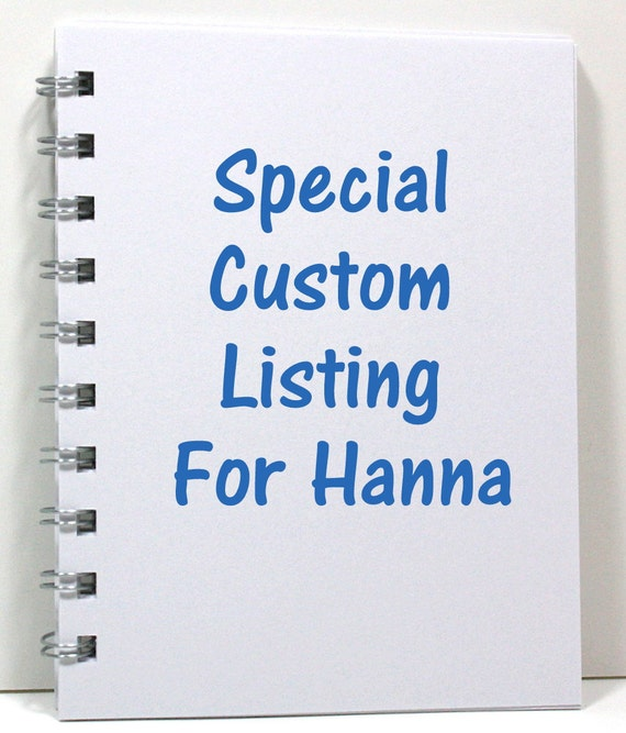 Special Listing for Hanna - Personalized Keep Calm Journal - Ivory