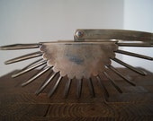 Vintage Industrial Style Silver Plated Fruit Basket