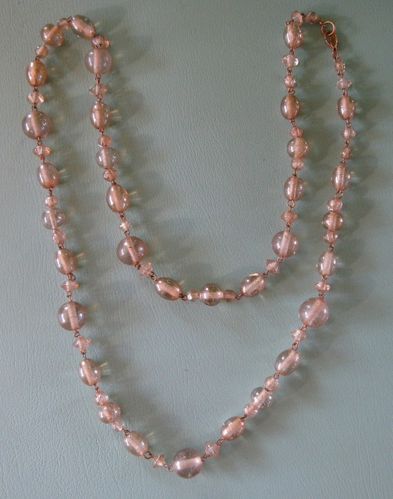 Long Champagne Glass Necklace (N-1-2)