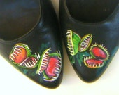 Painted Shoes Venus Fly Trap Mary-Janes Size 7.5