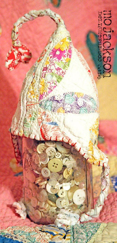 hat  / antique quilt pixiebelle chapeau / mo jackson