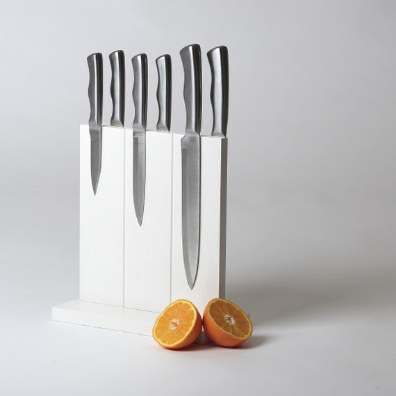 White Knife Block - Magnetic