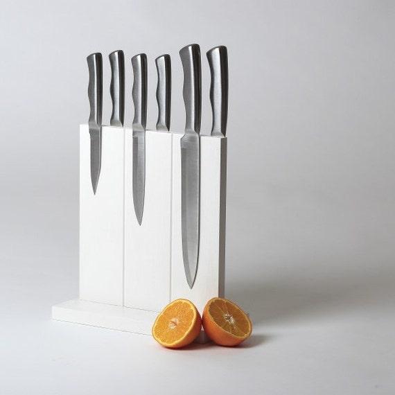 White Knife Block - Magnetic
