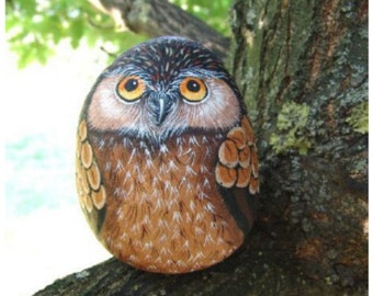 How to paint an Owl on rock, Rock painting pdf tutorial in english