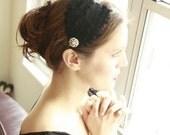 Fabulous Black Curled Feather Headband Flapper Fascinator